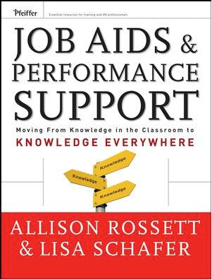 job aids template - book review job aids performance support trainingzone