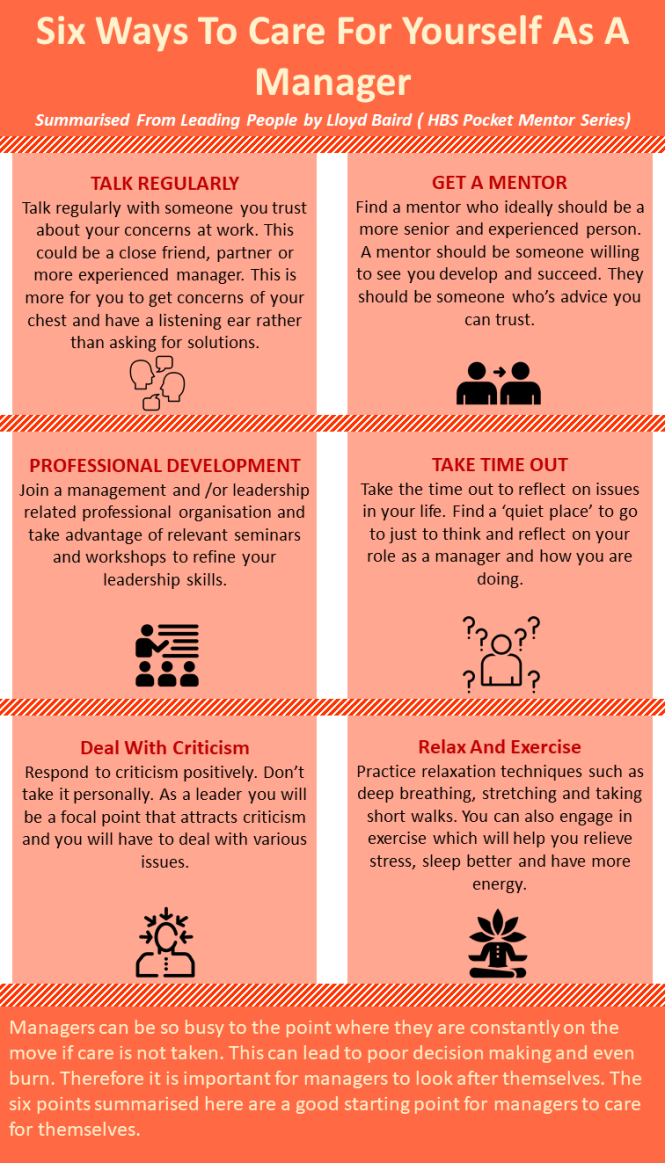 Six Ways To Care For Yourself As A Manager